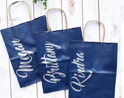 bridal shower gift bags bridesmaid gift bag etsy