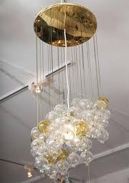 Cascading Glass Bubble Chandelier Retro Cascading Glass Bubble Light Fixture At 1stdibs