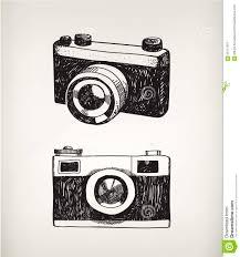 vector set of hand drawn vintage cameras stock vector image