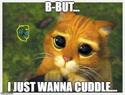 Cuddle Meme - b but i just wanna cuddle meme