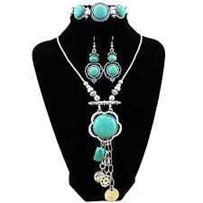 vintage turquoise silver necklace images Xy fancy retro craft vintage look antique silver jpg