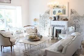 shabby chic lounge room ideas white fireplace walnut wall shelves
