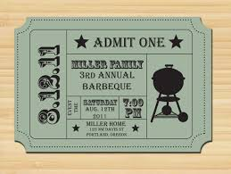 bbq tickets template a barbecue free printable invitation template greetings