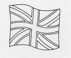 coloring british flag coloring page