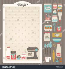 sweet recipe vector card template kitchen stock vector 131212718