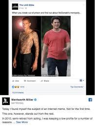 Cruel Meme - actor wentworth miller s powerful response to cruel fat shaming meme