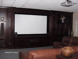 home theater projector screens home theater with projection screen and built in cabinets
