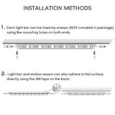 Led Light Bar Installation by 6pcs Led Under Cabinet Lighting Kit Extendable Under Counter Led