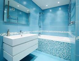 black and blue bathroom ideas blue bathroom designs standing washbasin the mirror white