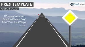distant goal prezi template prezibase