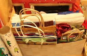 how to store wrapping paper and gift bags organizing gift wrap