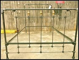 Antique Cast Iron Bed Frame Vintage Metal Frame King Wrought Iron Wooden