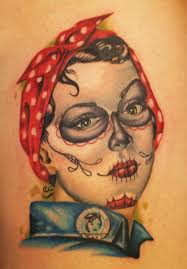 day of the dead rosie the riveter by brian harris tattoonow