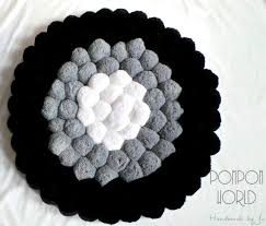 Furry Black Rug Make A Fluffy Puffy Pom Pom Rug Pom Pom Rug Learning And Craft