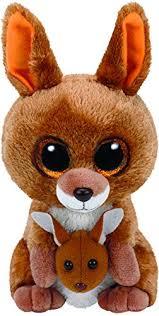 ty beanie boos gabby the 6 amazon com ty beanie boos kipper brown kangaroo reg plush toys