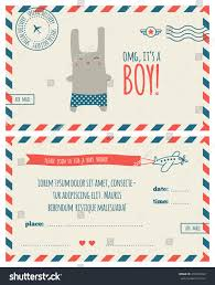 baby shower invitation template air mail stock vector 239014942