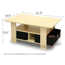 standard dimensions of a coffee table zenboa