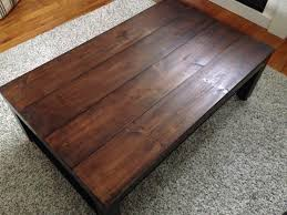 Rustic Mahogany Coffee Table Furniture Wood Coffee Table With Minwax Polyshades And Gray