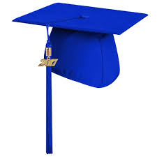high school graduation caps matte royal blue graduation cap with tassel high school
