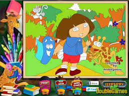 online coloring page dora the explorer online coloring page online game