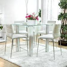 glass counter height table sets glass counter height dining set counter height dining table modern