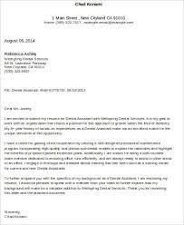 cover letter for dental assistant dental assistant cover letter
