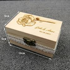 personalized wooden gifts aliexpress buy personalized wooden ring box rustic wedding