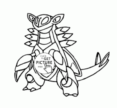 legendary pokemon armaldo coloring pages for kids pokemon