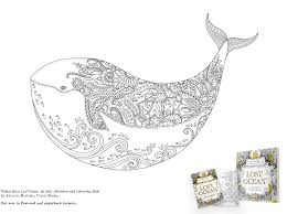colour whale downloadable lost ocean postcard