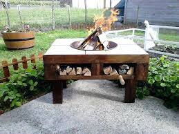 outdoor dining table with built in fire pit patio table with fire