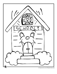 coloring page school school coloring pages woo jr activities