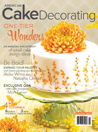 Cake Decorating Magazine Issues Feature In American Cake Decorating Magazine Akiko White Art