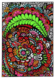 floral zentangle free coloring http