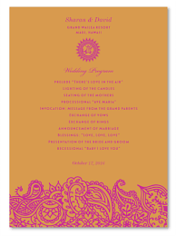 indian wedding programs indian wedding programs bombay