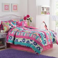 girls teen bedding white wall themes with pink curtains plus striped bedding bed on