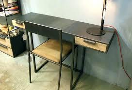 bureau metal et verre bureau en metal meetharry co