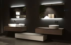 Modern Mirrors For Bathrooms Backlit Bathroom Mirror Contemporary Home Ideas Collection
