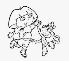 dora and boots coloring drawing free wallpaper anggela coloring