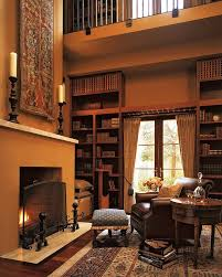 light brown color scheme luxury home libraries with classic