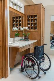 Accessible Bathroom Designs by Before U0026 After An Accessible Master Bathroom Is Created Using