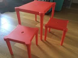 Ikea Kid Table by Ikea Utter Kids Table 2 Stools Red In Hackney London Gumtree