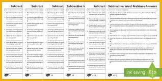 subtraction word problems year 2 subtraction word problems differentiated activity sheets