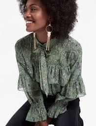 high neck ruffle blouse high neck ruffle blouse lucky brand