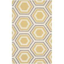 Yellow Area Rug 4x6 Love This Ivory U0026 Yellow Revis Wool Hand Woven Rug On Zulily