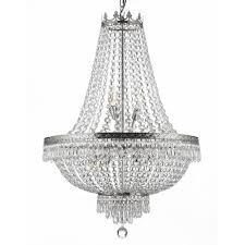 Silver Chandelier Empire 9 Light Silver Chandelier T40 226 The Home Depot