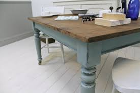 Painted Kitchen Tables Distressed Painted Pine Kitchen Table - Distressed kitchen tables