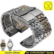 breitling steel bracelet images Stainless steel watchband for breitling chronomat watchband 22mm jpg