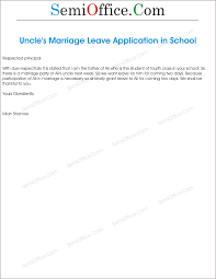 application for marriage of uncle by student u0027s parents