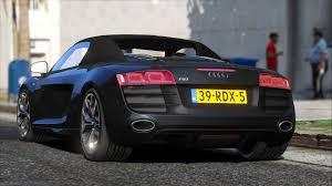 Audi R8 All Black - audi r8 spyder gta5 mods com