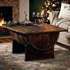 whiskey barrel side table recycled wine barrel side table whiskey barrel coffee table home